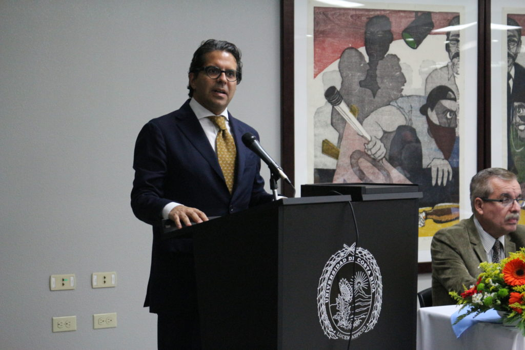Edgar Mora Altamirano, MPA, Minister of Public Education, Costa Rica giving his talk during the Opening Ceremony