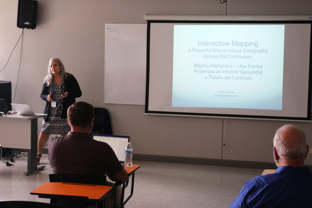 """Interactive mapping: A Powerful Way to Infuse Geography Across the Curriculum"" Anita Palmer. GISetc, UNITED STATES"